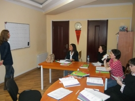 Students took the course of the Traditional Georgian language at ALC